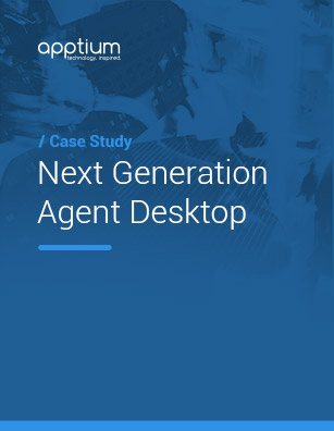 Next Generation Agent Desktop